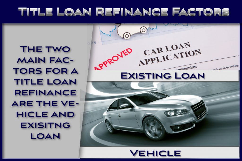High level title loan refinance factors
